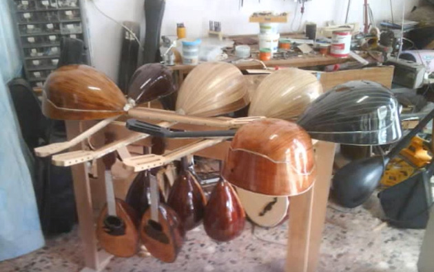 Construction Process, Handmade Instruments by Andreas Dellios